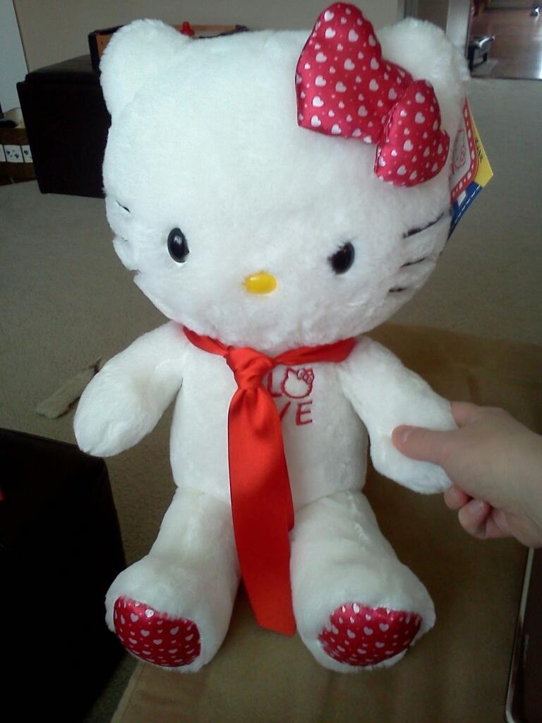 Giggling Hello Kitty with that Damned Red Tie